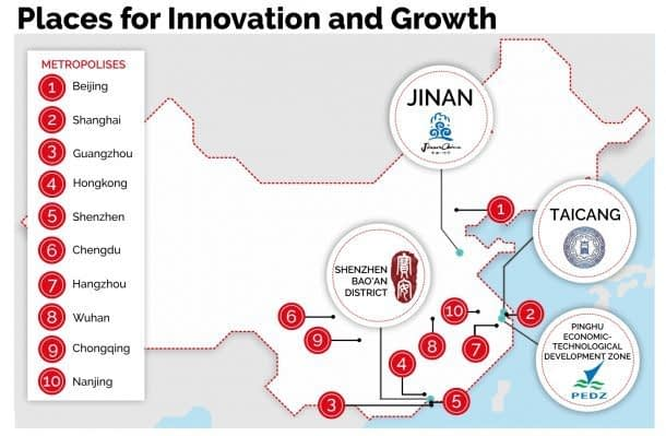 Four places for innovation and growth
