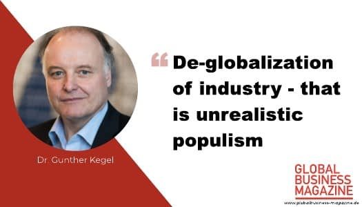 """Dr. Gunther Kegel: """"We need a positive idea of the future now"""""""