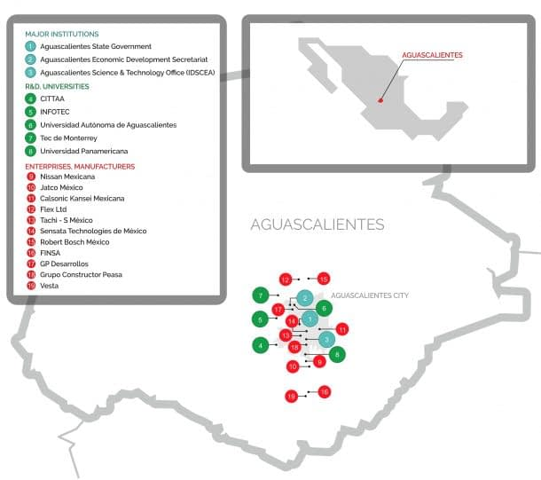 map aguascalientes